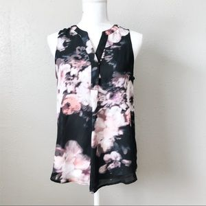 Cynthia Rowley Sleeveless Floral Top Size Small